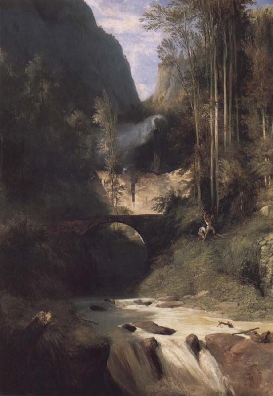 Carl Blechen Gorge near Amalfi oil painting image